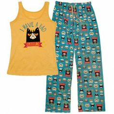 David & Goliath Catitude Womens PJ Set