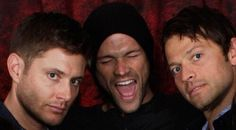 It looks like Jared just busted out singing and Jensen and Misha are like 'you see what we have to deal with daily??' HAHAHA #SPN