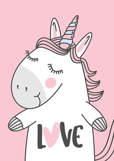 "unicorn illustration with hand lettering text ""love"". Iphone Wallpaper Unicorn, Unicornios Wallpaper, Cute Wallpaper Backgrounds, Wallpaper Iphone Cute, Unicorn Drawing, Unicorn Art, Cute Unicorn, Cute Disney Wallpaper, Cute Cartoon Wallpapers"