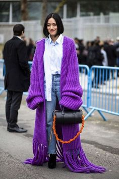 Oversized sweater | purple | street style |