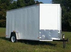 NEW 6x12 VNOSE ENCLOSED CARGO TRAILER 6'3 INTERIOR Enclosed Cargo Trailers, Plywood Walls, Sheffield, Wheels, Flooring, Interior, Indoor, Wood Flooring, Interiors