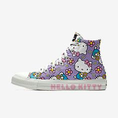Converse by You. Choose from unique colors, patterns and materials and add personalized text to create a shoe you can call your own. Women's Converse, Custom Converse, Outfits With Converse, Custom Shoes, Top Shoes, Me Too Shoes, Hello Kitty Shoes, High Top Sneakers, Shoes Sneakers