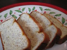 Banana bread - omg this is delicious! Great with or without butter, warm or cold