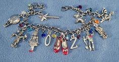 Wizard of Oz Charms Silver Bracelet includes by DebsTreasures