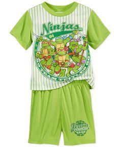 1b20b1905c2 Ninja Turtles Toddler Boys  2-Piece Pajamas Kids - Pajamas - Macy s