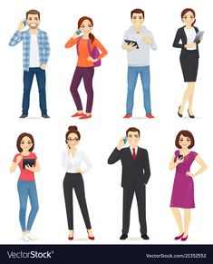 Buy People with Gadgets by Volhah on GraphicRiver. People with gadgets set isolated vector illustration Free Vector Images, Vector Free, Cookie Vector, Man Vector, Female Superhero, White T, Portrait Illustration, Silhouette Vector, Running Women