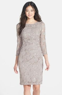 Marina Side Pleat Stretch Lace Dress available at #Nordstrom