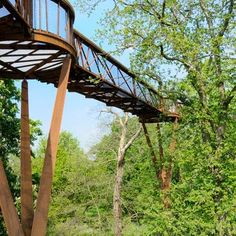 An elevated walkway through the trees by Marks Barfield Architects has opened at Kew Gardens in London.