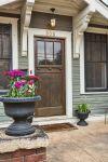 Number above door Craftman Front Door - House Tour