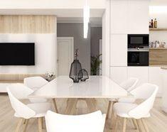 Projekt wnętrz - dom jednorodzinny okolice Poznania - Duży salon z jadalnią, styl nowoczesny - zdjęcie od art-park sp. z o.o. - homebook