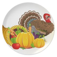 sc 1 st  Pinterest & Thanksgiving Turkey Plastic Plate | Plastic plates