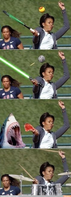 Funny pictures about Photoshop level: Michelle Obama. Oh, and cool pics about Photoshop level: Michelle Obama. Also, Photoshop level: Michelle Obama. Really Funny, The Funny, Funny Shit, Funny Jokes, Funny Life, Funny Happy, Funny Stuff, Art Jokes, Super Funny