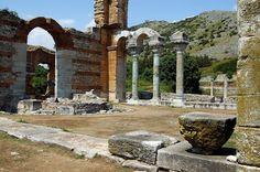 TRAVEL'IN GREECE | #Philippi, #Kavala, #Greece, #travelingreece Greece Travel, Planet Earth, Archaeology, Paths, Vacation, Mansions, Byzantine, House Styles, City