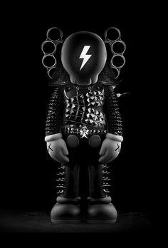 FANTASMAGORIK® DARK KAWS on Digital Art Served Mixed Media Photography, American Graffiti, Arte Popular, Vinyl Toys, Cartoon Styles, Designer Toys, Street Artists, Types Of Art, Figurative Art