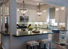 Kitchen Remodel Ideas White Cabinets small bungalow transformation. originally closed in walls now open