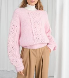 8cd54eb0572956 Other Stories Eyelet Knit Sweater Layering Outfits, What I Wore, Who What  Wear