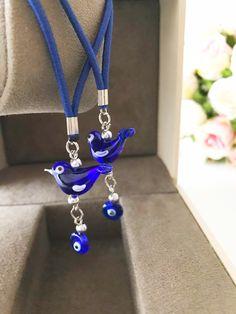 Car Rear View Mirror, Turkish Jewelry, Evil Eye Charm, Plastic Jewelry, Handmade Beads, Cute Jewelry, Glass Beads, Charms, Glass Art