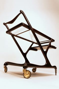 Cesare Lacca; Bar Cart for Cassina, 1950's.