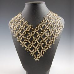Floral chain maille 1 necklace....well, necklace just doesn't seem to do this justice!