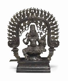 A bronze figure of Shiva and P