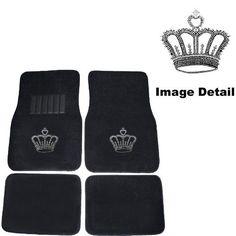 Crown Gem Crystal Studded Rhinestone Car Truck SUV Front & Rear Seat Carpet Floor Mats - 4PC by Unknown, http://www.amazon.com/dp/B001AV9P36/ref=cm_sw_r_pi_dp_LUFvrb0CT0ED2