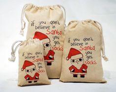 Santa Socks Drawstri