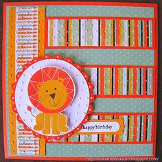 kaisercraft party animals card | ve also just added the adorable kissing bear at the top of my blog ...