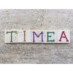 Timea, Female Name On Carved Travertine Photograph