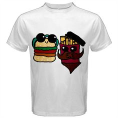Burger And Fries Men's Cotton Tee  #fastfood #fastfoodtees #burgers #fries #food #hamburgers