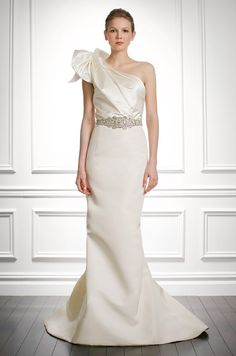 One shouldered wedding dress by Carolina Herrera, Fall 2013