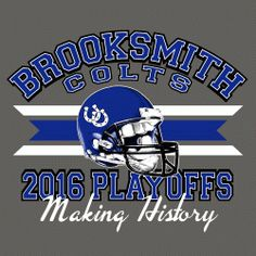 Custom T-Shirt Designs With Your School Name, Mascot And Colors For Football Playoffs And Championships By Gandy Ink