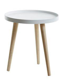 Tray table BAKKEBJERG D40 white/natural | JYSK