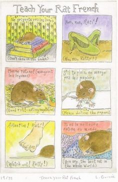 Teach Your Rat French print by Lichenesque on Etsy, $15.00