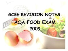 GCSE REVISION NOTES AQA FOOD EXAM 2009. Food words HACCP Hazard Analysis and…