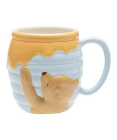 I don't care about the Winnie the Pooh part - but the rest of the mug looks like Pam's pink mug from The Office and I want to make one like it. Winnie The Pooh Ceramic Sculpted Mug Zak Designs Disney