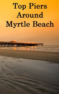 Check out some of the top piers around the Myrtle Beach area.  Some piers have restaurants where you can stop to eat and others are very popular fishing spots.  The one thing that is consistent though, is that every pier gives you a beautiful view of the blue ocean!