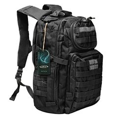 Hunting- G4Free Multipurpose Tactical BackPack Large Camping Hiking Shoulder Pack 40L (Black) *** You can find more details by visiting the image link.