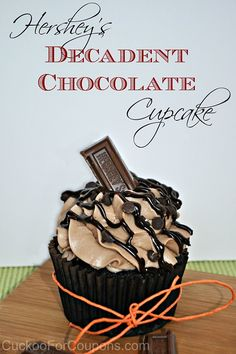My sweet tooth is going to love me more this holiday season when I make these Hershey's Decadent Chocolate Cupcakes.