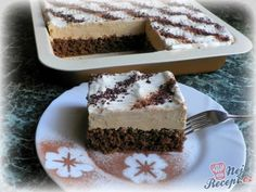 Mocca řezy se zakysankou – Recepti Czech Recipes, Ethnic Recipes, Food Porn, Brownie Cupcakes, Amazing Cakes, Tiramisu, Sweet Tooth, Food And Drink, Cooking Recipes