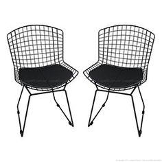 Cadeira Bertóia CM0005 2 Peças Preto - Mobizza   Lojas KD    Dimensões Cadeira Bertóia CM0005 2 Peças Preto - Mobizza A = 84 cm L = 49 cm P = 56 cm R$ 394