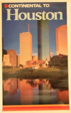 Continental Airlines Houston Poster