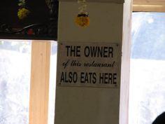 Restaurant humour