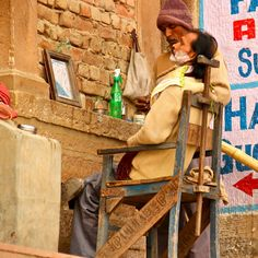 Barber at work Varanasi