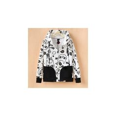 Cat Print Hoodie (€29) ❤ liked on Polyvore featuring tops, hoodies, sweatshirt, women, white hoodie, cat hoodie, hoodie sweatshirts, sweatshirt hoodie and sweatshirts hoodies