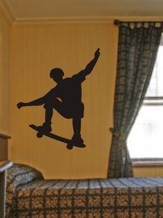 SKATEBOARDER DECAL Sticker Skateboard Wall Mural X GAMES Boy Teen Room. $24.00, via Etsy.