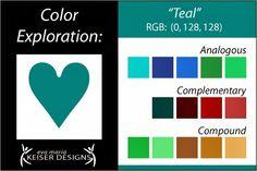 Explore Color: Teal - Eva Maria Keiser Designs