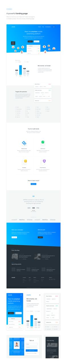 A productivity platform and its respective marketing page.