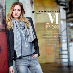 Onder de naam Metallic Melange brengt Expresso een nieuwe herfst collectie 2015 op de markt. De collectie welke een industriële look uitstraalt met metallic kleuren en accenten krijgt warmte door vrouwelijke vormen en zachte materialen. MEER http://www.pops-fashion.com/?p=24687