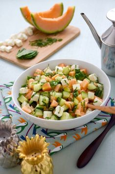 Good Healthy Recipes, Veggie Recipes, New Recipes, Healthy Drinks, Feta Salat, I Love Food, Summer Recipes, Food Inspiration, Entrees
