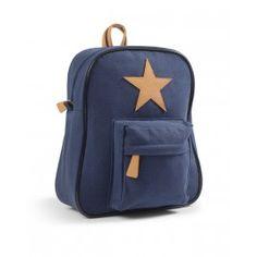 Smallstuff Canvas-Rucksack blau